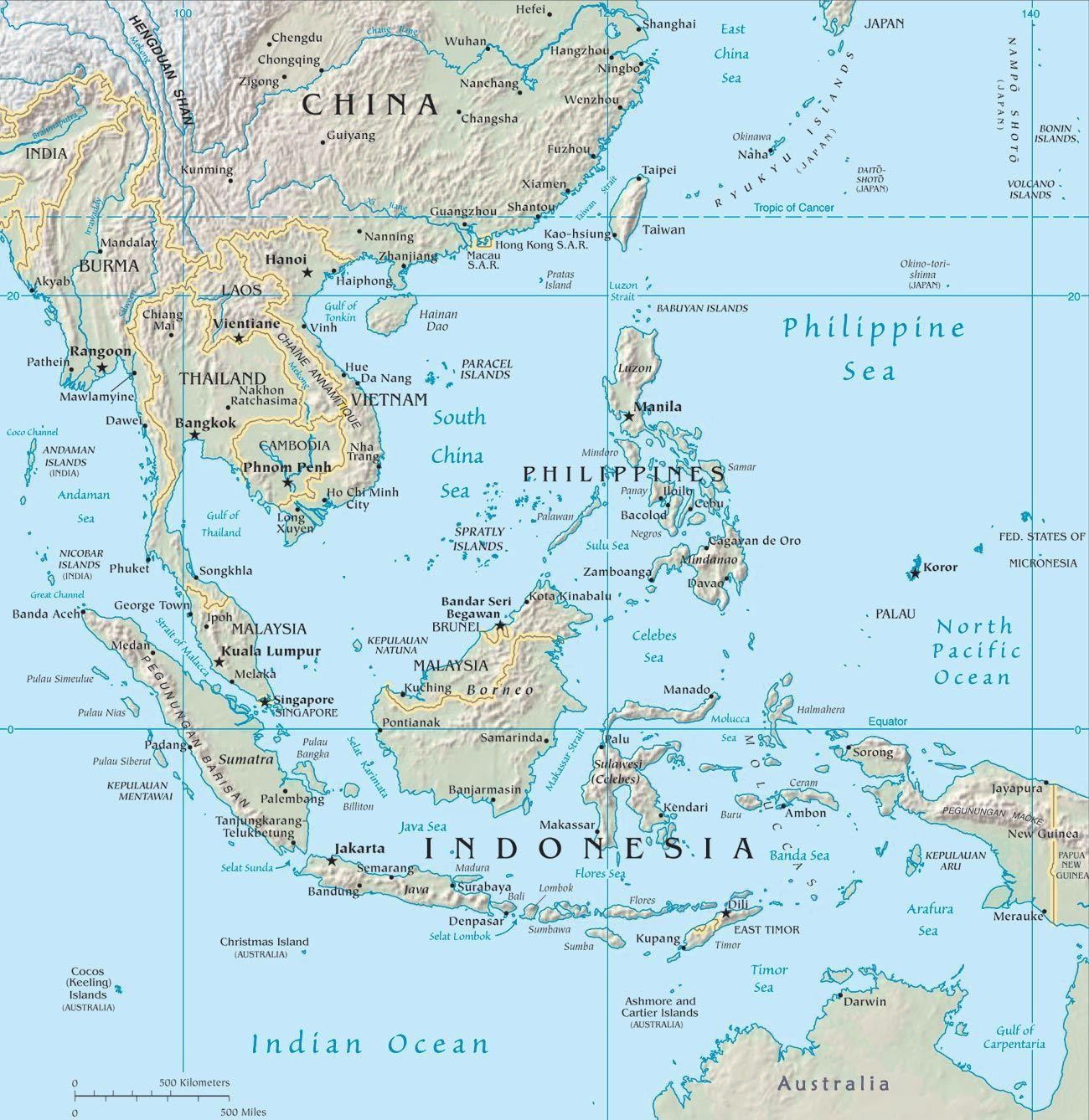 Map Of Asia Malaysia.Malaysia Map Asia Map Of Malaysia In Asia South Eastern Asia Asia