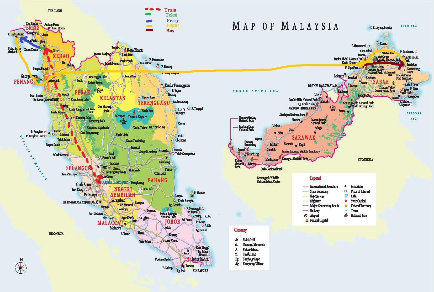 Picture of: Malaysia States Map Malaysia Map Hd South Eastern Asia Asia