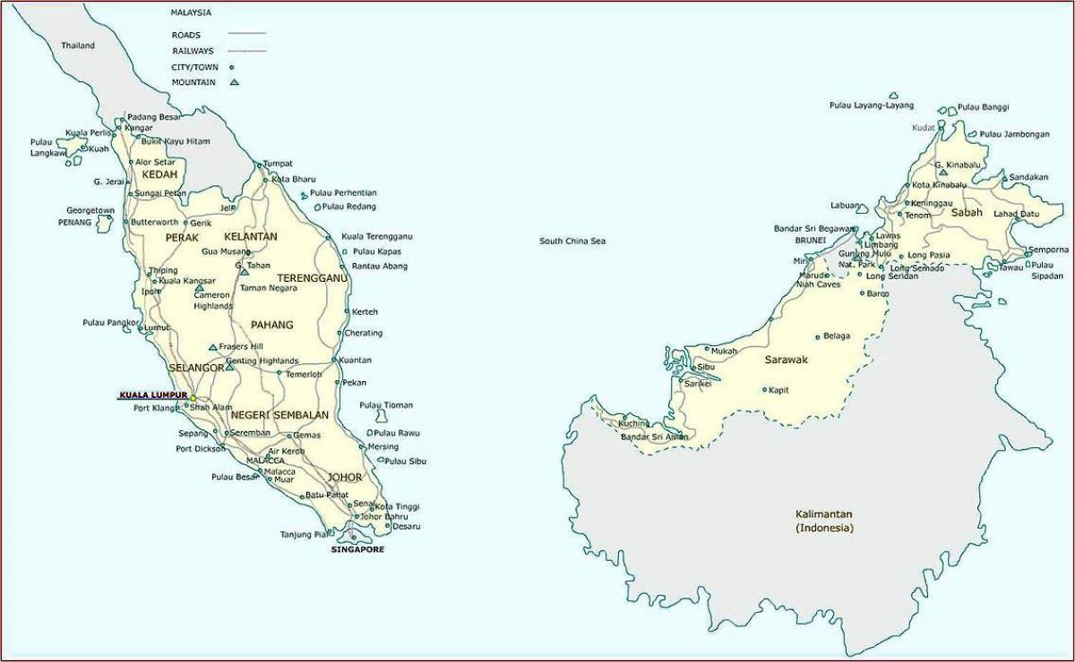 detailed map of malaysia