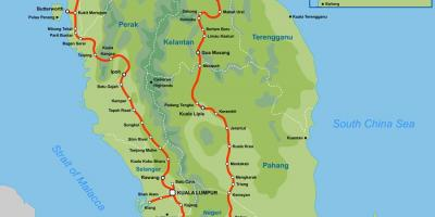 Ktm route map malaysia