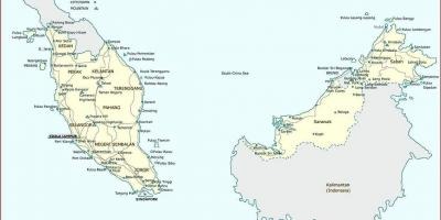 Malaysia cities map