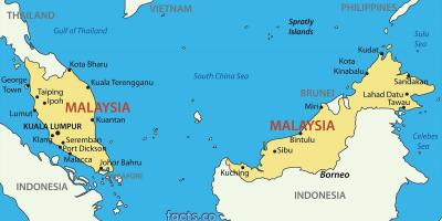 A map of malaysia