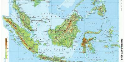 Cartina Asia Fisica.Malaysia Map Maps Malaysia South Eastern Asia Asia