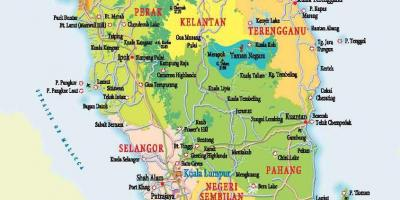 Map of west malaysia